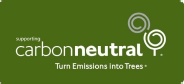 Carbon Neutral logo. Wildlife Monitoring is supporting Carbon Neutral